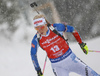 Laura Toivanen of Finland during the women 7.5km sprint race of IBU Biathlon World Cup in Hochfilzen, Austria.  Women 7.5km sprint race of IBU Biathlon World cup was held in Hochfilzen, Austria, on Friday, 8th of December 2017.