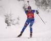 Lena Haecki of Switzerland during the women 7.5km sprint race of IBU Biathlon World Cup in Hochfilzen, Austria.  Women 7.5km sprint race of IBU Biathlon World cup was held in Hochfilzen, Austria, on Friday, 8th of December 2017.