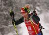 Karolin Horchler of Germany during the women 7.5km sprint race of IBU Biathlon World Cup in Hochfilzen, Austria.  Women 7.5km sprint race of IBU Biathlon World cup was held in Hochfilzen, Austria, on Friday, 8th of December 2017.