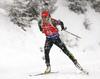 Laura Dahlmeier of Germany during the women 7.5km sprint race of IBU Biathlon World Cup in Hochfilzen, Austria.  Women 7.5km sprint race of IBU Biathlon World cup was held in Hochfilzen, Austria, on Friday, 8th of December 2017.
