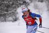 Venla Lehtonen of Finland during the women 7.5km sprint race of IBU Biathlon World Cup in Hochfilzen, Austria.  Women 7.5km sprint race of IBU Biathlon World cup was held in Hochfilzen, Austria, on Friday, 8th of December 2017.