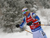 Mari Laukkanen of Finland during the women 7.5km sprint race of IBU Biathlon World Cup in Hochfilzen, Austria.  Women 7.5km sprint race of IBU Biathlon World cup was held in Hochfilzen, Austria, on Friday, 8th of December 2017.