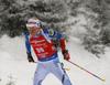 Kaisa Makarainen of Finland during the women 7.5km sprint race of IBU Biathlon World Cup in Hochfilzen, Austria.  Women 7.5km sprint race of IBU Biathlon World cup was held in Hochfilzen, Austria, on Friday, 8th of December 2017.