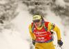 Linn Persson of Sweden during the women 7.5km sprint race of IBU Biathlon World Cup in Hochfilzen, Austria.  Women 7.5km sprint race of IBU Biathlon World cup was held in Hochfilzen, Austria, on Friday, 8th of December 2017.
