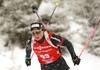 Irene Cadurisch of Switzerland during the women 7.5km sprint race of IBU Biathlon World Cup in Hochfilzen, Austria.  Women 7.5km sprint race of IBU Biathlon World cup was held in Hochfilzen, Austria, on Friday, 8th of December 2017.