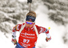 Fifth placed Ingrid Landmark Tandrevold of Norway during the women 7.5km sprint race of IBU Biathlon World Cup in Hochfilzen, Austria.  Women 7.5km sprint race of IBU Biathlon World cup was held in Hochfilzen, Austria, on Friday, 8th of December 2017.