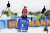 Second placed Fakov Fak of Slovenia during the men 12.5km pursuit race of IBU Biathlon World Cup in Hochfilzen, Austria.  Men 12.5km pursuit race of IBU Biathlon World cup was held in Hochfilzen, Austria, on Saturday, 9th of December 2017.