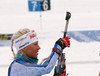 Kaisa Makarainen of Finland during the zeroing before the women 10km pursuit race of IBU Biathlon World Cup in Hochfilzen, Austria.  Women 10km pursuit race of IBU Biathlon World cup was held in Hochfilzen, Austria, on Saturday, 9th of December 2017.