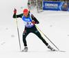 Benedikt Doll of Germany during the men relay race of IBU Biathlon World Cup in Hochfilzen, Austria.  Men relay race of IBU Biathlon World cup was held in Hochfilzen, Austria, on Sunday, 10th of December 2017.