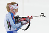 Venla Lehtonen of Finland during the women relay race of IBU Biathlon World Cup in Hochfilzen, Austria.  Women relay race of IBU Biathlon World cup was held in Hochfilzen, Austria, on Sunday, 10th of December 2017.