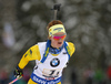 Mona Brorsson of Sweden during the women relay race of IBU Biathlon World Cup in Hochfilzen, Austria.  Women relay race of IBU Biathlon World cup was held in Hochfilzen, Austria, on Sunday, 10th of December 2017.