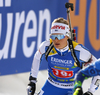 Venla Lehtonen of Finland  skiing during the single mixed relay race of IBU Biathlon World Cup in Pokljuka, Slovenia. Opening race of IBU Biathlon World cup 2018-2019, single mixed relay was held in Pokljuka, Slovenia, on Sunday, 2nd of December 2018.