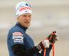 Tuomas Gronman of Finland during zeroing before start of the men individual race of IBU Biathlon World Cup in Pokljuka, Slovenia. Men 20km individual race of IBU Biathlon World cup 2018-2019 was held in Pokljuka, Slovenia, on Wednesday, 5th of December 2018.