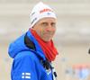 Coach of Finland Jonne Kahkonen during zeroing before start of the men individual race of IBU Biathlon World Cup in Pokljuka, Slovenia. Men 20km individual race of IBU Biathlon World cup 2018-2019 was held in Pokljuka, Slovenia, on Wednesday, 5th of December 2018.