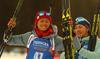 Second placed Monika Hojnisz of Poland celebrates her medal won in the women individual race of IBU Biathlon World Cup in Pokljuka, Slovenia. Women 15km individual race of IBU Biathlon World cup 2018-2019 was held in Pokljuka, Slovenia, on Thursday, 6th of December 2018.