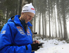 Coach of Finland Jonne Kahkonen during the men individual race of IBU Biathlon World Cup in Pokljuka, Slovenia. Men 20km individual race of IBU Biathlon World cup 2018-2019 was held in Pokljuka, Slovenia, on Thursday, 6th of December 2018.