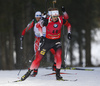 Johannes Thingnes Boe of Norway competes during the men individual race of IBU Biathlon World Cup in Pokljuka, Slovenia. Men 20km individual race of IBU Biathlon World cup 2018-2019 was held in Pokljuka, Slovenia, on Thursday, 6th of December 2018.