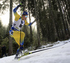 Martin Ponsiluoma of Sweden competes during the men individual race of IBU Biathlon World Cup in Pokljuka, Slovenia. Men 20km individual race of IBU Biathlon World cup 2018-2019 was held in Pokljuka, Slovenia, on Thursday, 6th of December 2018.