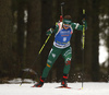 Dorothea Wierer of Italy competes in the women individual race of IBU Biathlon World Cup in Pokljuka, Slovenia. Women 15km individual race of IBU Biathlon World cup 2018-2019 was held in Pokljuka, Slovenia, on Thursday, 6th of December 2018.