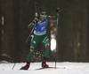 Lisa Vittozzi of Italy competes in the women individual race of IBU Biathlon World Cup in Pokljuka, Slovenia. Women 15km individual race of IBU Biathlon World cup 2018-2019 was held in Pokljuka, Slovenia, on Thursday, 6th of December 2018.