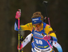 Hanna Oeberg of Sweden competes in the women individual race of IBU Biathlon World Cup in Pokljuka, Slovenia. Women 15km individual race of IBU Biathlon World cup 2018-2019 was held in Pokljuka, Slovenia, on Thursday, 6th of December 2018.