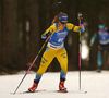 Mona Brorsson of Sweden competes in the women individual race of IBU Biathlon World Cup in Pokljuka, Slovenia. Women 15km individual race of IBU Biathlon World cup 2018-2019 was held in Pokljuka, Slovenia, on Thursday, 6th of December 2018.
