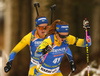 Emma Nilsson of Sweden (41) and Mona Brorsson of Sweden are competing in the women individual race of IBU Biathlon World Cup in Pokljuka, Slovenia. Women 15km individual race of IBU Biathlon World cup 2018-2019 was held in Pokljuka, Slovenia, on Thursday, 6th of December 2018.