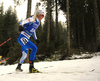 Mari Eder of Finland competes in the women individual race of IBU Biathlon World Cup in Pokljuka, Slovenia. Women 15km individual race of IBU Biathlon World cup 2018-2019 was held in Pokljuka, Slovenia, on Thursday, 6th of December 2018.