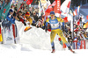Emma Nilsson of Sweden competes during the women sprint race of IBU Biathlon World Cup in Pokljuka, Slovenia. Women sprint race of IBU Biathlon World cup 2018-2019 was held in Pokljuka, Slovenia, on Saturday, 8th of December 2018.