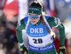 Dorothea Wierer of Italy competes during the women sprint race of IBU Biathlon World Cup in Pokljuka, Slovenia. Women sprint race of IBU Biathlon World cup 2018-2019 was held in Pokljuka, Slovenia, on Saturday, 8th of December 2018.