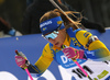 Anna Magnusson of Sweden competes during the women sprint race of IBU Biathlon World Cup in Pokljuka, Slovenia. Women sprint race of IBU Biathlon World cup 2018-2019 was held in Pokljuka, Slovenia, on Saturday, 8th of December 2018.
