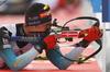 Quentin Fillon Maillet of France during zeroing before start of the men pursuit race of IBU Biathlon World Cup in Pokljuka, Slovenia. Men pursuit race of IBU Biathlon World cup 2018-2019 was held in Pokljuka, Slovenia, on Sunday, 9th of December 2018.