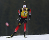 Johannes Thingnes Boe of Norway competes during the men pursuit race of IBU Biathlon World Cup in Pokljuka, Slovenia. Men pursuit race of IBU Biathlon World cup 2018-2019 was held in Pokljuka, Slovenia, on Sunday, 9th of December 2018.