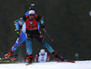 Martin Fourcade of France competes during the men pursuit race of IBU Biathlon World Cup in Pokljuka, Slovenia. Men pursuit race of IBU Biathlon World cup 2018-2019 was held in Pokljuka, Slovenia, on Sunday, 9th of December 2018.