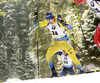Martin Ponsiluoma of Sweden competes during the men pursuit race of IBU Biathlon World Cup in Pokljuka, Slovenia. Men pursuit race of IBU Biathlon World cup 2018-2019 was held in Pokljuka, Slovenia, on Sunday, 9th of December 2018.