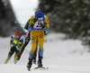 Jesper Nelin of Sweden competes during the men pursuit race of IBU Biathlon World Cup in Pokljuka, Slovenia. Men pursuit race of IBU Biathlon World cup 2018-2019 was held in Pokljuka, Slovenia, on Sunday, 9th of December 2018.