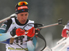Quentin Fillon Maillet of France competes during the men pursuit race of IBU Biathlon World Cup in Pokljuka, Slovenia. Men pursuit race of IBU Biathlon World cup 2018-2019 was held in Pokljuka, Slovenia, on Sunday, 9th of December 2018.