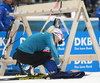 Kaisa Makarainen of Finland during zeroing before start of the women pursuit race of IBU Biathlon World Cup in Pokljuka, Slovenia. Women pursuit race of IBU Biathlon World cup 2018-2019 was held in Pokljuka, Slovenia, on Sunday, 9th of December 2018.