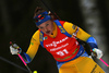 Linn Persson of Sweden competes during the women pursuit race of IBU Biathlon World Cup in Pokljuka, Slovenia. Women pursuit race of IBU Biathlon World cup 2018-2019 was held in Pokljuka, Slovenia, on Sunday, 9th of December 2018.