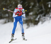 Kaisa Makarainen of Finland competes during the women pursuit race of IBU Biathlon World Cup in Pokljuka, Slovenia. Women pursuit race of IBU Biathlon World cup 2018-2019 was held in Pokljuka, Slovenia, on Sunday, 9th of December 2018.