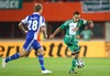 Rasmus Schueller, (HJK Helsinki) and Steffen Hofmann, (SK Rapid Wien) during a UEFA Europa League between SK Rapid Vienna and HJK Helsinki at the Ernst Happel Stadion, Wien, Austria on 2014/08/28.