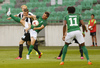 Players during return match of the first round qualifiers match for UEFA Europa League between NK Olimpija and VPS Vaasa. Return match between NK Olimpija, Ljubljana, Slovenia, and VPS Vaasa, Vaasa, Finland, was played on Thursday, 6th of July 2017 in Stozice Arena in Ljubljana, Slovenia.