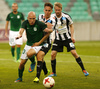 Tomislav Tomic of NK Olimpija (L) and Juha Hakola of VPS Vaasa (R) during return match of the first round qualifiers match for UEFA Europa League between NK Olimpija and VPS Vaasa. Return match between NK Olimpija, Ljubljana, Slovenia, and VPS Vaasa, Vaasa, Finland, was played on Thursday, 6th of July 2017 in Stozice Arena in Ljubljana, Slovenia.