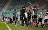 VPS bench celebrating goal during return match of the first round qualifiers match for UEFA Europa League between NK Olimpija and VPS Vaasa. Return match between NK Olimpija, Ljubljana, Slovenia, and VPS Vaasa, Vaasa, Finland, was played on Thursday, 6th of July 2017 in Stozice Arena in Ljubljana, Slovenia.