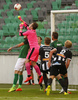 Goalie Marko Meerits of VPS Vaasa during return match of the first round qualifiers match for UEFA Europa League between NK Olimpija and VPS Vaasa. Return match between NK Olimpija, Ljubljana, Slovenia, and VPS Vaasa, Vaasa, Finland, was played on Thursday, 6th of July 2017 in Stozice Arena in Ljubljana, Slovenia.