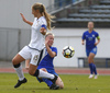 Chiara Ripamonti of Italy and Emma Varmanen of Finland (R) during UEFA European Women Under-17 Championship match between Finland and Slovenia. UEFA European Women Under-17 Championship match between Finland and Italy was played on Sunday, 29th of October 2017 in Kranj, Slovenia.