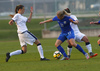 during UEFA European Women Under-17 Championship match between Finland and Slovenia. UEFA European Women Under-17 Championship match between Finland and Italy was played on Sunday, 29th of October 2017 in Kranj, Slovenia.