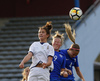 Kaisa Juvonen of Finland (R), Emma Varmanen of Finland (M) and Chiara Pucci of Italy (L) during UEFA European Women Under-17 Championship match between Finland and Slovenia. UEFA European Women Under-17 Championship match between Finland and Italy was played on Sunday, 29th of October 2017 in Kranj, Slovenia.
