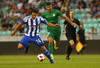 Sebastian Dahlstrom of HJK Helsinki during third round qualifiers match for Europa League between NK Olympija and HJK Helsinki. Third round qualifiers match for Europa League between NK Olympija and HJK Helsinki was played on Thursday, 9th of August 2018 in Stozice arena in Ljubljana, Slovenia