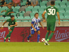 Mikko Sumusalo of HJK Helsinki during third round qualifiers match for Europa League between NK Olympija and HJK Helsinki. Third round qualifiers match for Europa League between NK Olympija and HJK Helsinki was played on Thursday, 9th of August 2018 in Stozice arena in Ljubljana, Slovenia